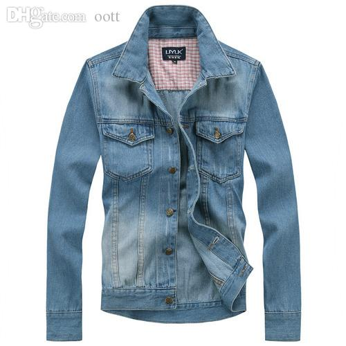 Fall-New fashion men denim jacket jeans coat outwear outdoors casual jackets M L XL XXL