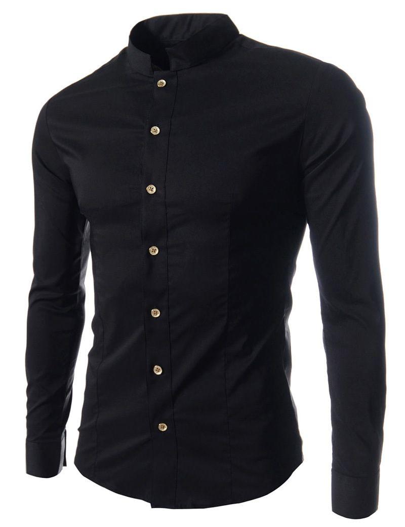 Shirt design new 2014 - 2014 New Design Men Solid Color Men Long Sleeve Shirts Korean Slim Fit Casual Shirts
