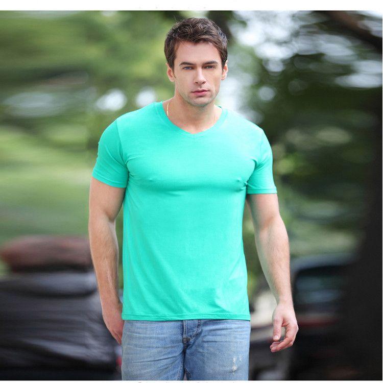 Men 39 S V Neck T Shirt Bamboo Fiber Men 39 S T Shirts Fashion V
