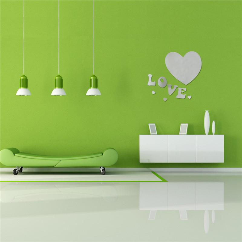 Essential Luxury 3d Love Heart Home Sticker Decor 3d Acrylic Mirror Wall Stickers Home Decoration Wallpaper Custom Vinyl Wall Decals Custom Wall Decal From