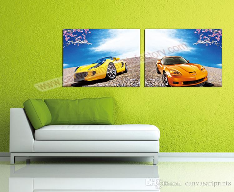 Cheap Modern Home Decor Arts Painting Canvas Art Picture Of Cars Wall