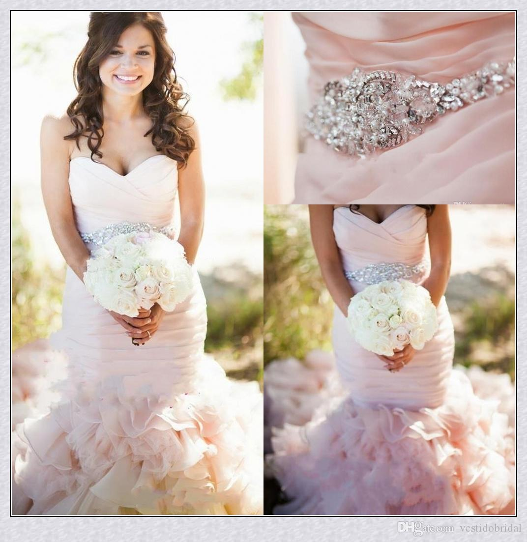 2015 Sweetheart Beads Crystal Blush Pink Belt Organza Lace-Up ...
