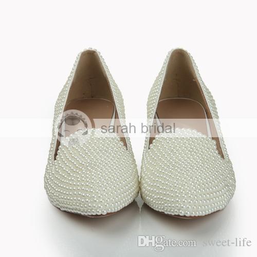 chaussure pointue 2015 cheap ivoire bas talon compens de femmes chaussures robe de soire prom party - Chaussure Compense Mariage