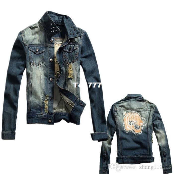 2016 New Spring Men Denim Jacket 100% Cotton Size M Xxl Fashion ...