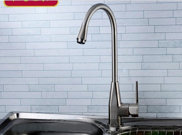 best quality luxury modern kitchen sink faucets mixer basin brushed nickle hot and cold spigot single handle kitchen appliance at cheap price - Kitchen Sinks Cheap Prices