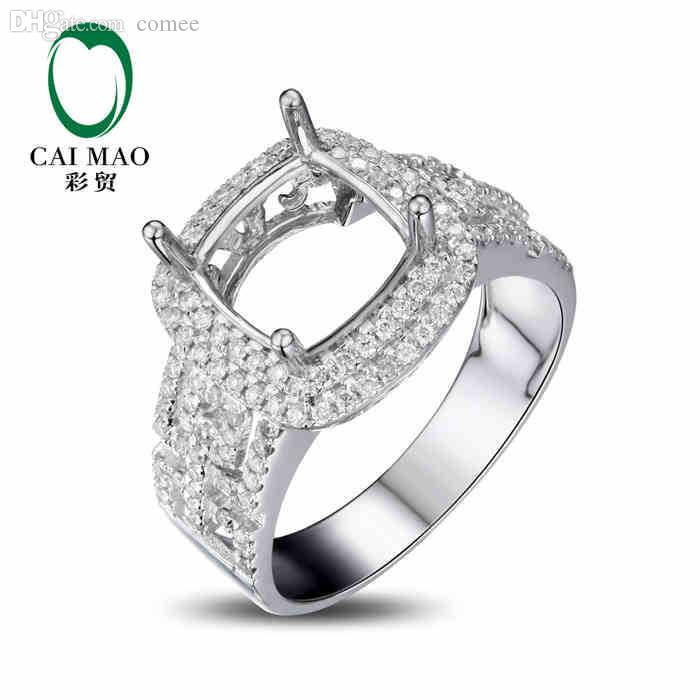 wholesale caimao cushion cut semi mount ring settings 0