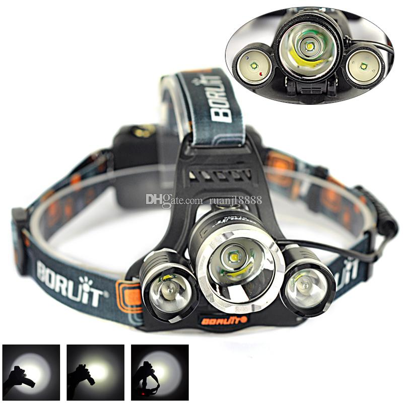 2015 boruit rj-3000 5000lm t6+2r2 led 4-mode 18650 rechargeable, Reel Combo