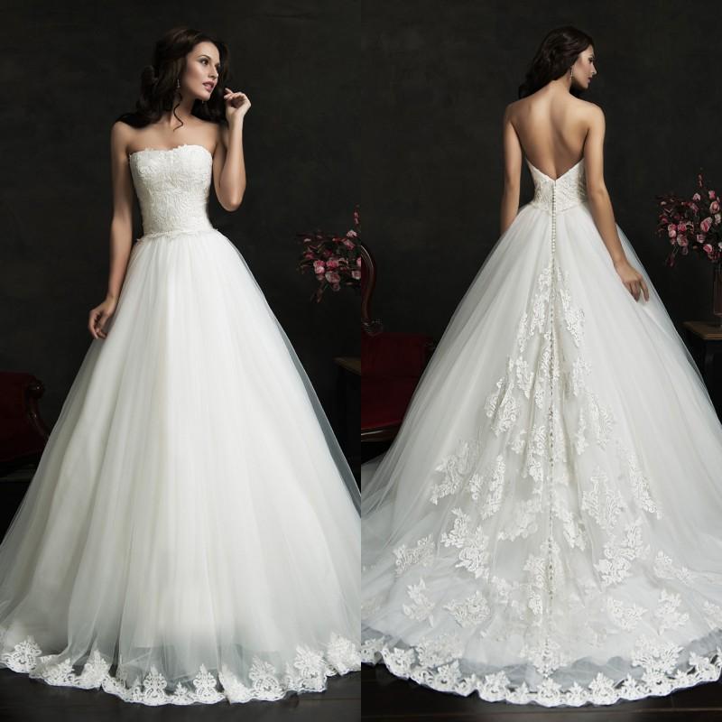 2015 princess wedding dresses amelia sposa backless bridal for Custom made wedding dresses nyc