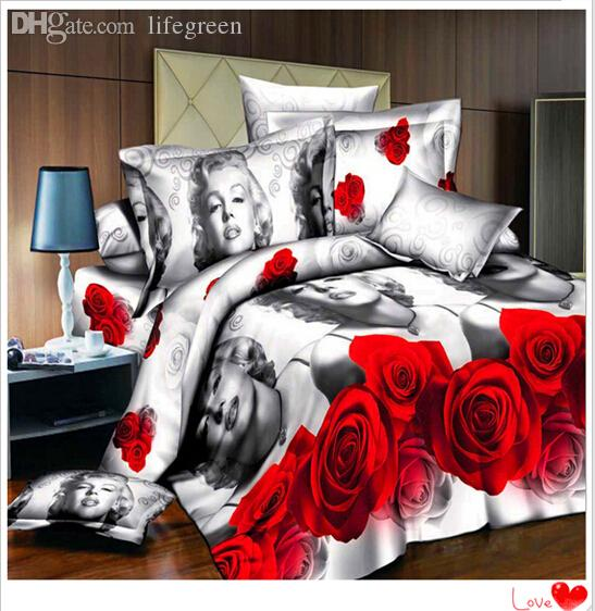 Wholesale Marilyn Monroe Bedding Sets 3d Bed Set With King Size ...