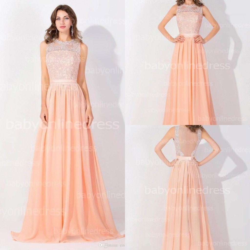 Discount Simple Peach Bridesmaid Dresses | 2017 Simple Peach ...