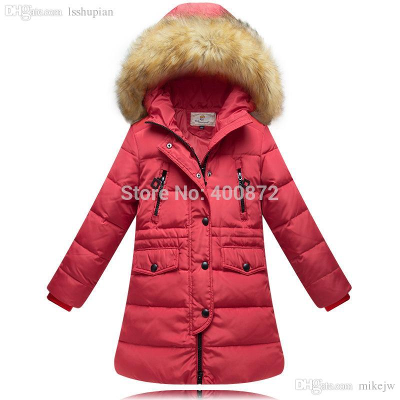 Wholesale Cold Winter Girl 100% Down Jackets Coat Down &amp Parkas
