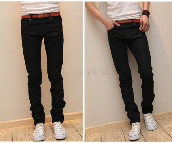 New 2015 Men Jeans Straight Trousers Straight Leg Pencil Pants ...