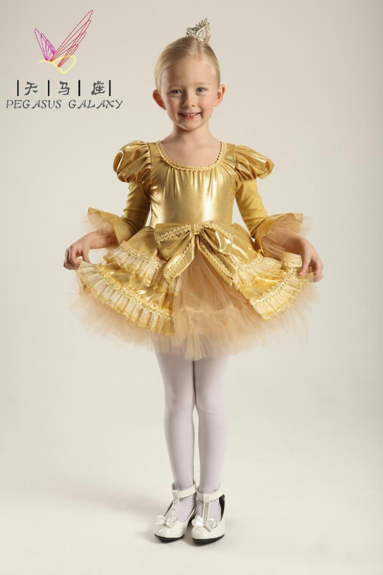 Girls Ballerina Dress Child Latin Dance Clothes Formal Dress ...