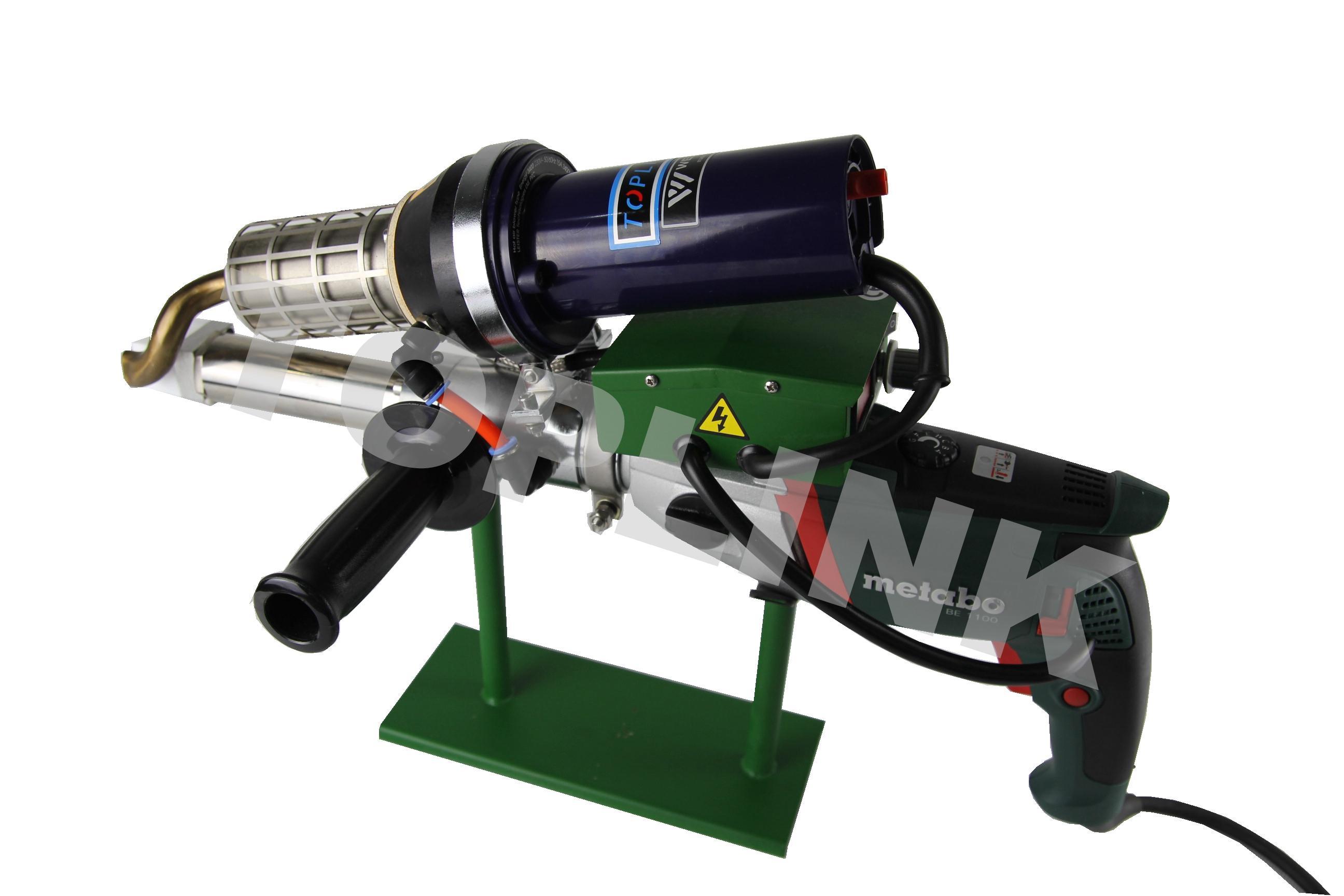 Plastic tube extrusion machine welding hand
