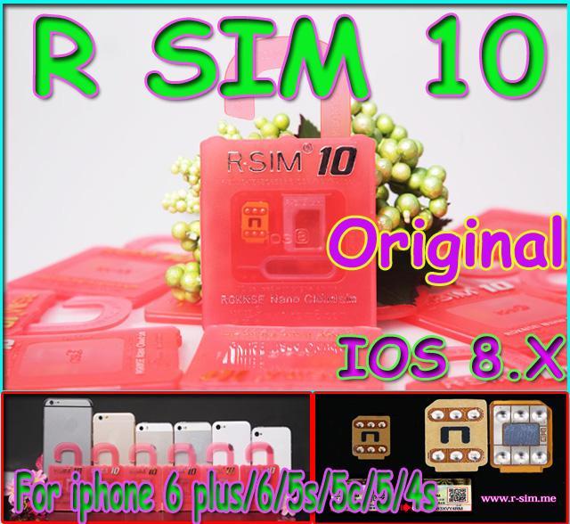 Newest Unlock Card R-SIM 10 RSIM 10 R SIM 10 directly used for iphone 6/6plus/5s/5c/5 iOS6. X-8.X WCDMA GSM CDMA Free Shipping