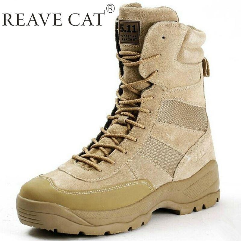 2015 Special Forces Military Hiking Boots Men High Top Tactical ...