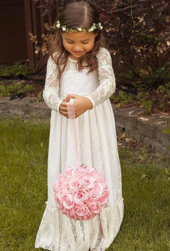 Long Sleeve Flower Girl Dresses