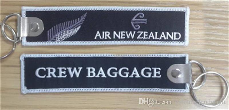 easy travel air new zealand crew baggage embroidery key. Black Bedroom Furniture Sets. Home Design Ideas