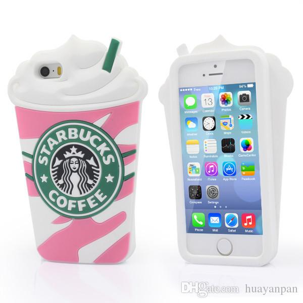 Cute 3D Starbucks Case Cover Silicone phone iPhone 5 5S 5G iphone 6