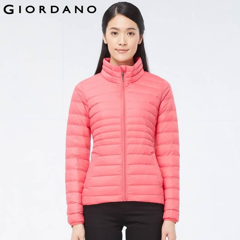 2017 Giordano Women 90% Filled Collar Down Coat Slim Ultralight ...
