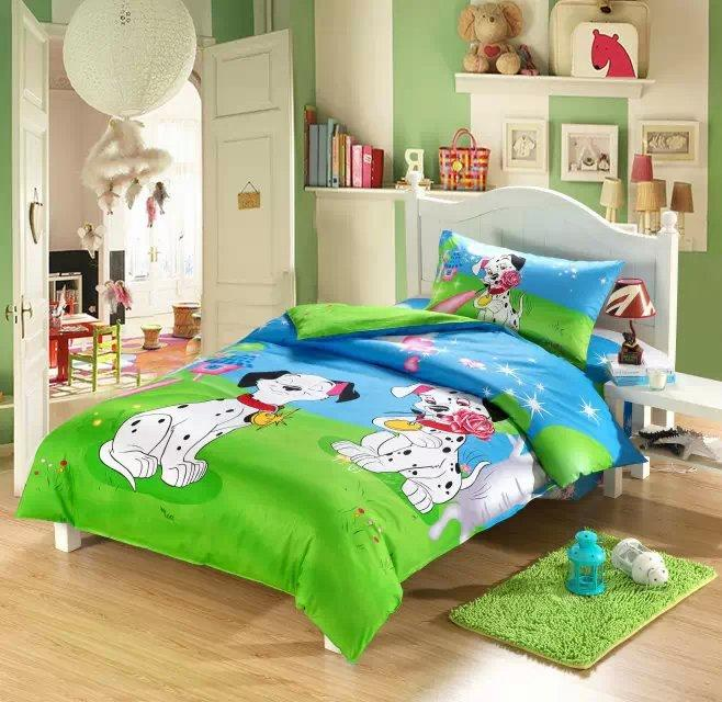 3d Dog Print Kids Toddler Bedding Set Cartoon Twin Doona