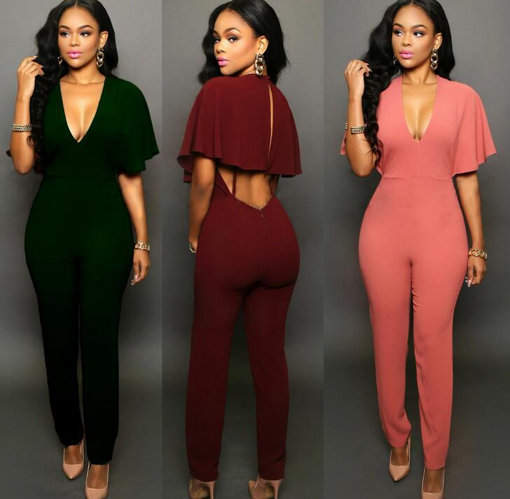 Sexy Style Women And Big Girls Backless Pant Sexy Clothes Fashion Sexy Rompers Siamese Trousers