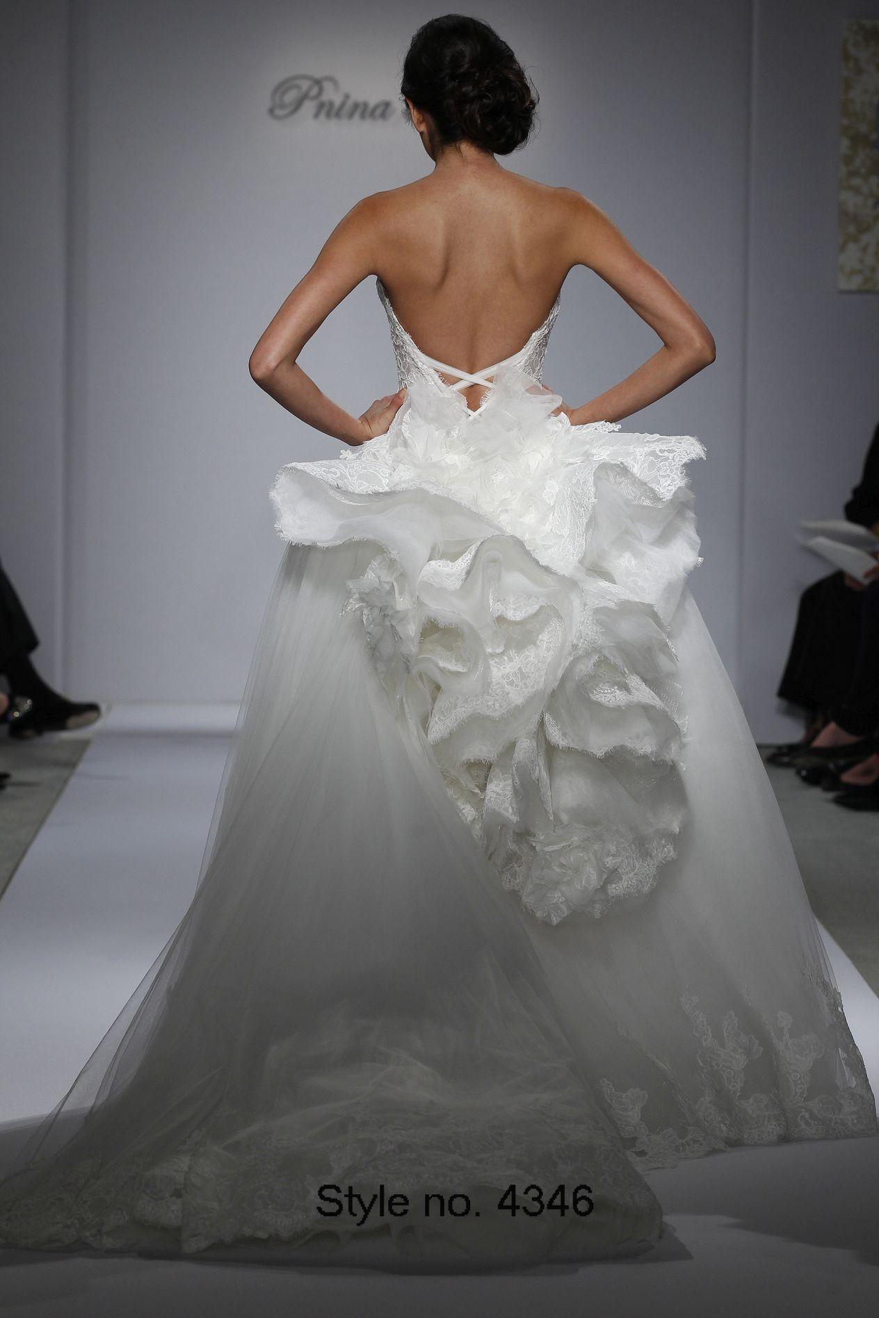 Pnina Tornai 2015 Ball Gown Wedding Dresses Appliqued
