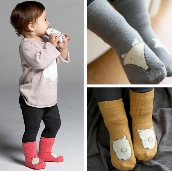 Kids Fox Socks Infant Baby Socks Toddler Non Slip Socks