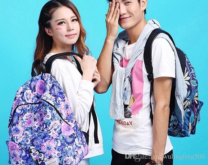 School Backpacks Leaves Students Printing Backpack Women Canvas ...