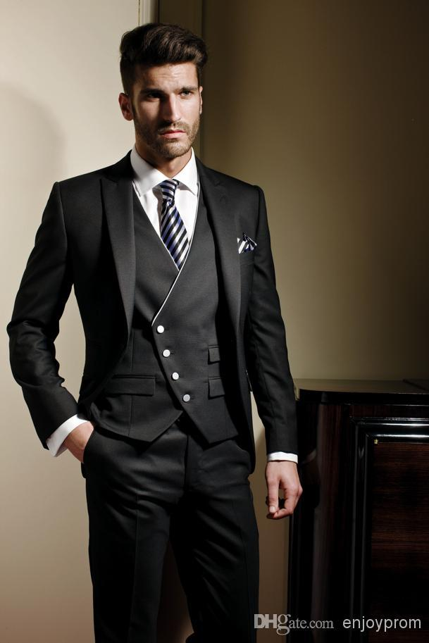 Custom Made Groom Tuxedos,Handsome Formal Wear Wedding Party ...