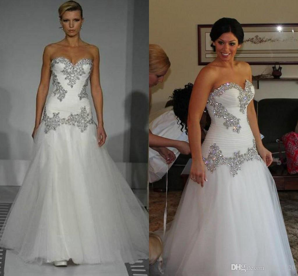 Wholesale 2015 Pnina Tornai A Line Wedding Dress Vintage