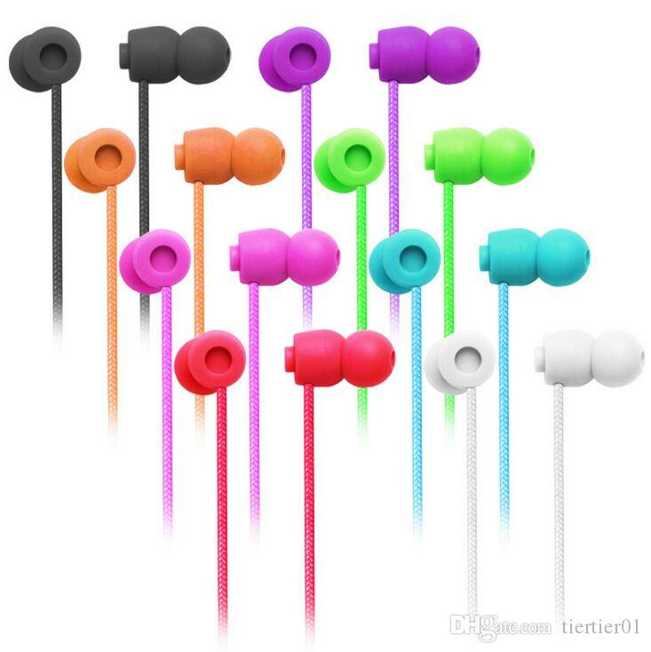 3.5mm Earphone Headphone Headset with Mic Colorful Earphones for iphone 4 4s 3gs 5 5s Samsung S3 S4 S5 Note 3 HTC Blackberry