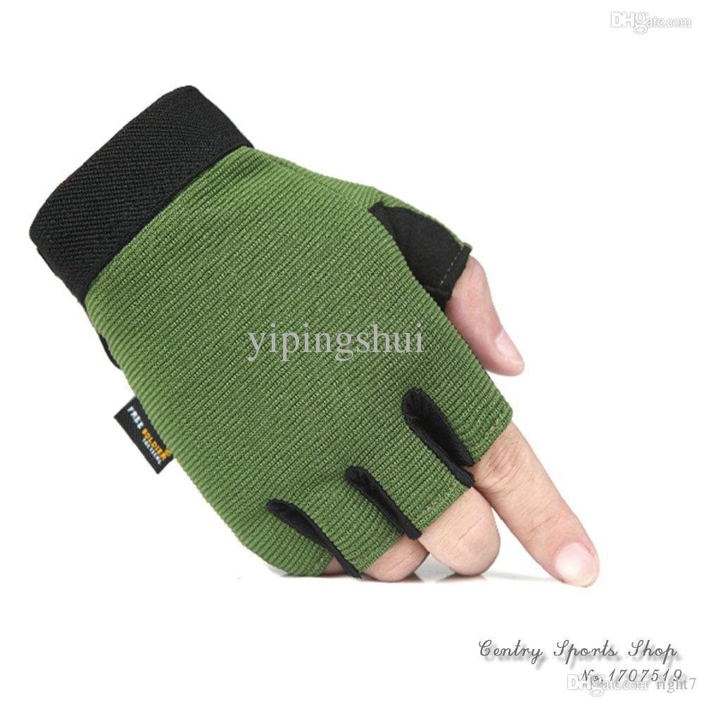 Driving gloves wholesale - Discount Wholesale Men Sports Outdoor Hiking Gloves Hunting Running Sports Army Gloves Gym Exercise Driving Gloves Boxing Color Green Black Yellow From