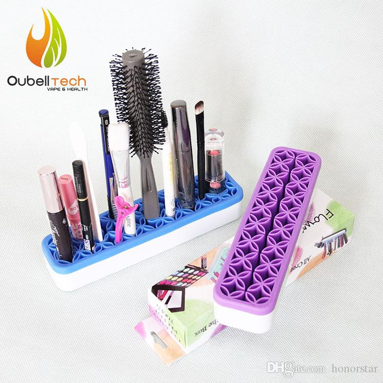 quirkly cosmetic brushes holder with lid small cosmetic organizer assembly makeup brush. Black Bedroom Furniture Sets. Home Design Ideas