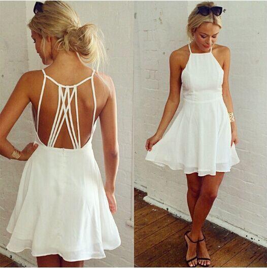 Online Cheap Summer Women Sexy Spaghetti Strap Dresses Halter ...