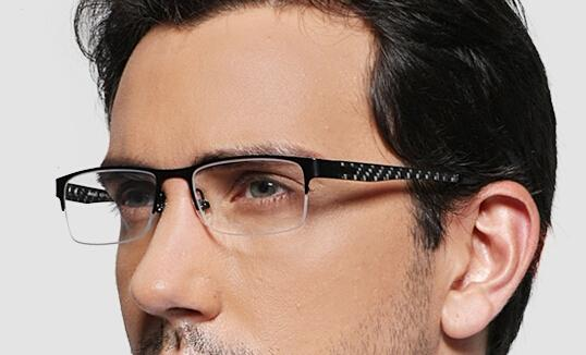 color mens men best business eye glasses half optical frame eyeglasses
