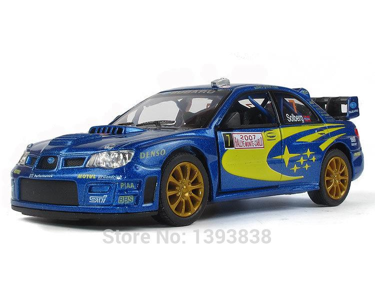 2017 kinsmart 2007 subaru impreza wrc diecast 1 36 scale model rallye monte carlo k58 boy toy. Black Bedroom Furniture Sets. Home Design Ideas