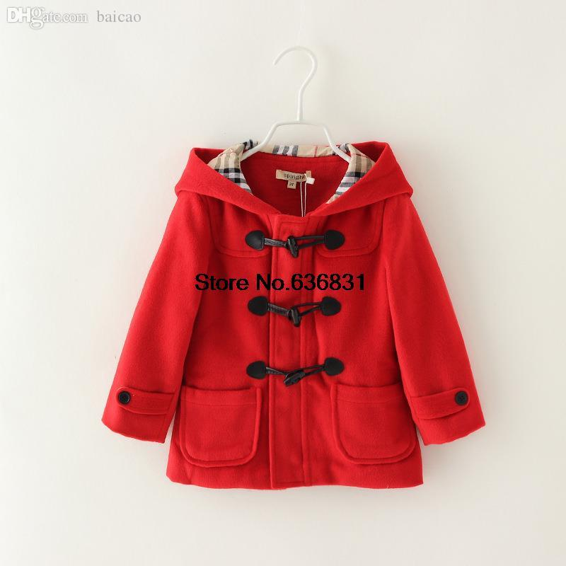 Wholesale Winter Childs Jackets Fashion Casual Hoodies Woolen ...