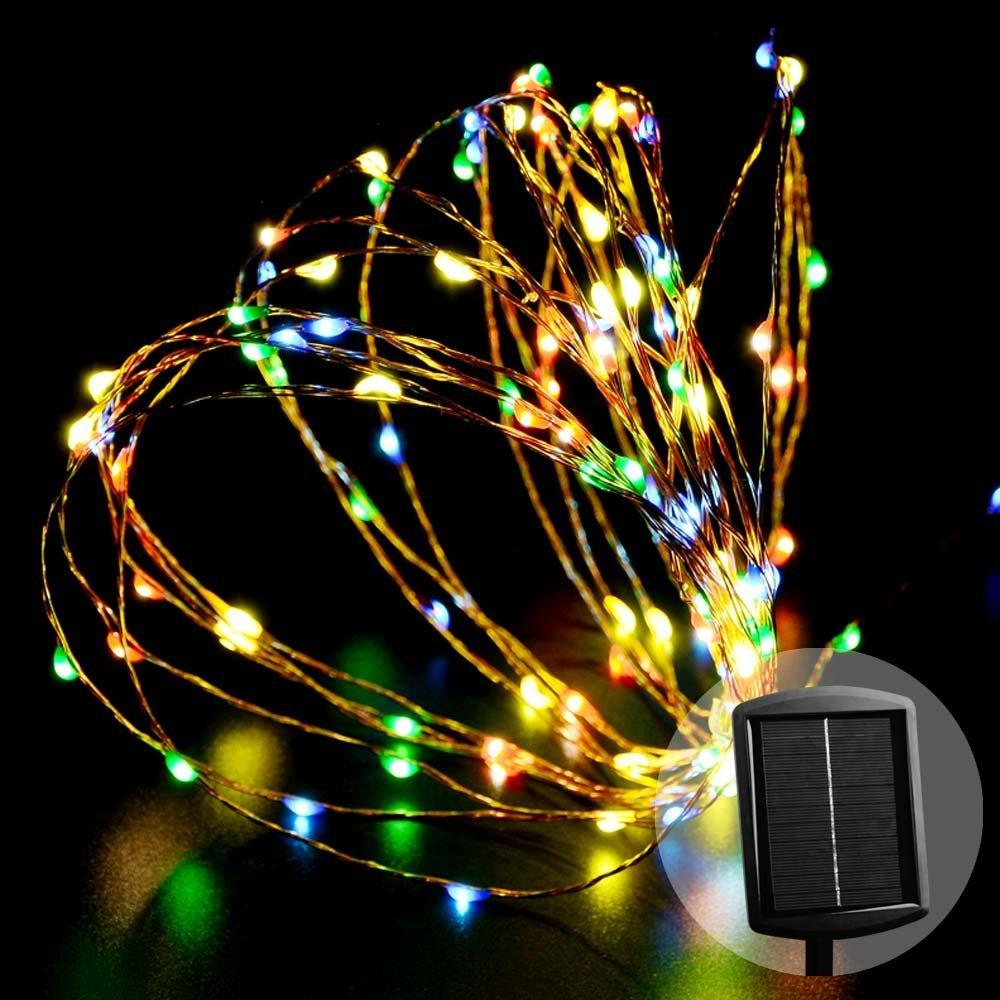 120led 17m solar garden fairy lights string outdoor starry decoration light for home garden - Decoration Lights