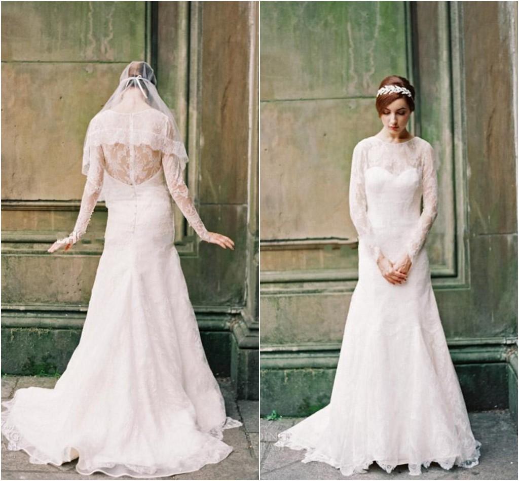 Blush pink long sleeve dress images for Long sleeve blush wedding dress