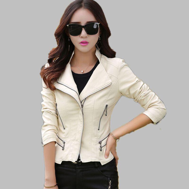 Wholesale- Plus Size Leather Jacket Women PU Leather Suede M- 4XL ...