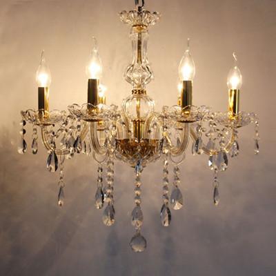 Bedroon 6 Bulbs Mini Led Candle Light Chandelier Modern Crystal – Candle Crystal Chandelier