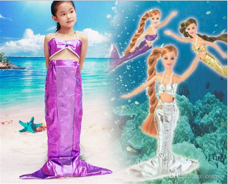 girls holiday show mermaid princess dress kids halloween christmas costumes children kids sea maid performance clothing hm88 halloween costume mermaid - Mermaid Halloween Costume For Kids