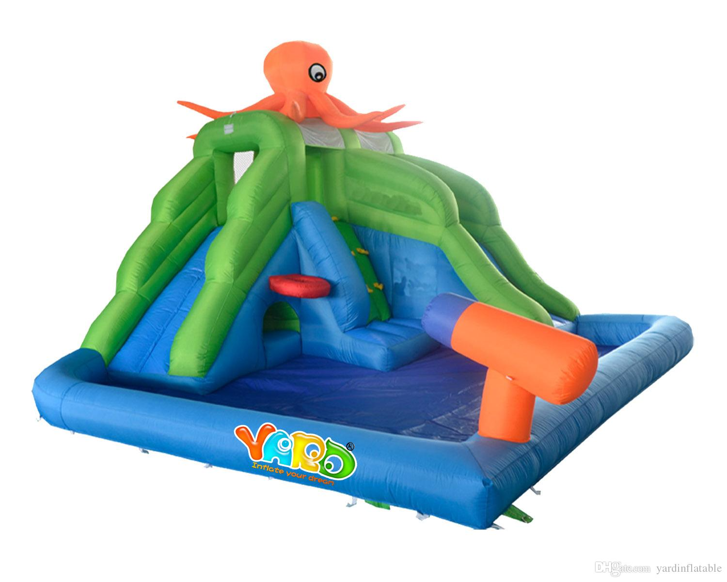 selling residential octopus inflatable water slide park
