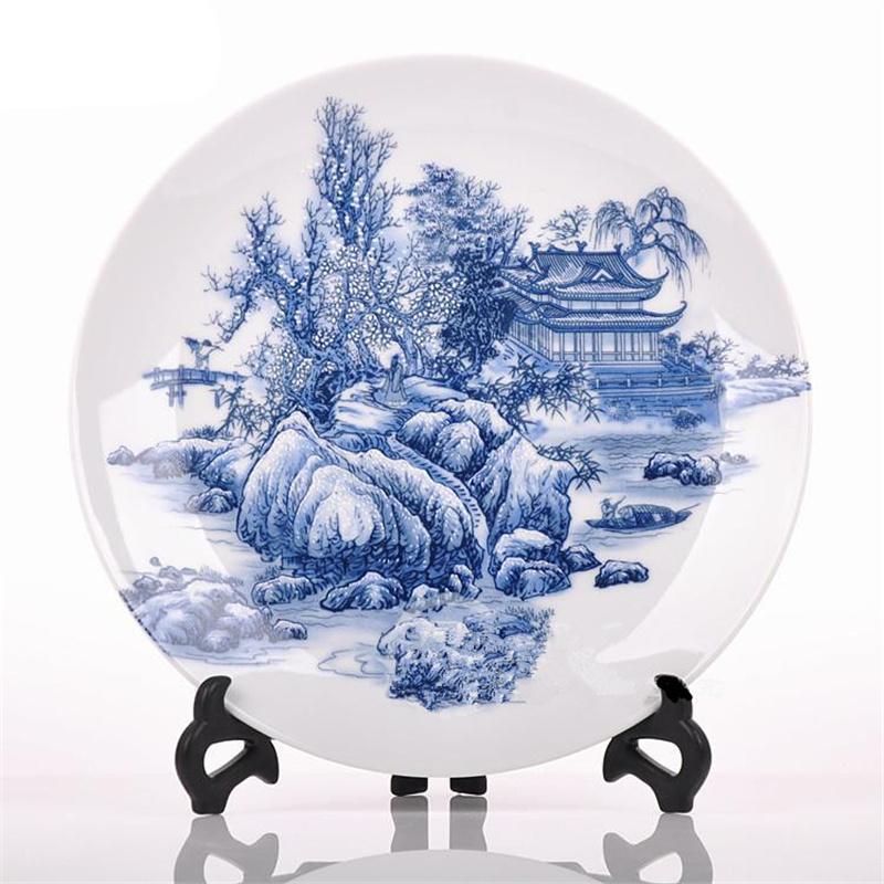 New Ceramic Decorate Plate Jingdezhen Ceramic Decorate