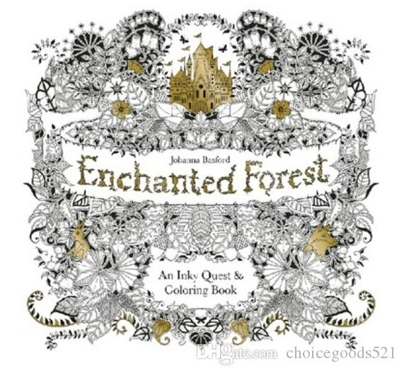 Secret Garden2 Enchanted Forest Coloring Book For Children Adult ...