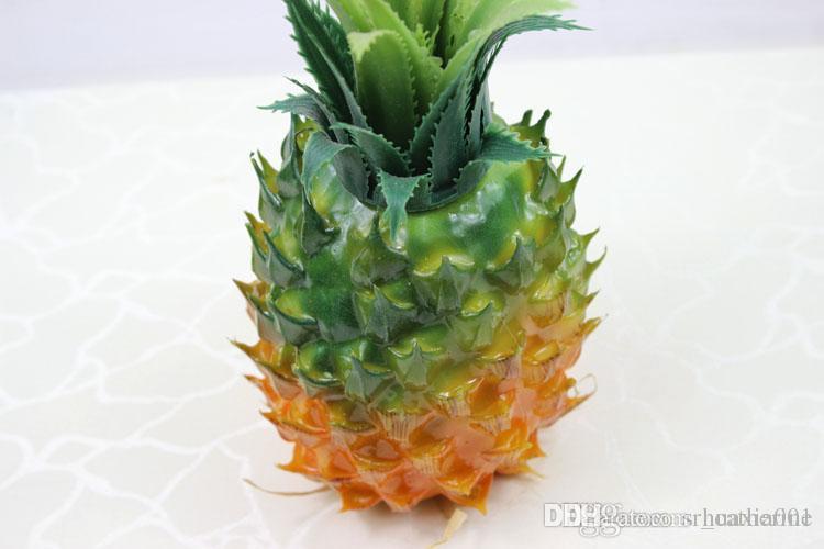 Best simulation pineapple large size 25x12cm artificial for Artificial pineapple decoration fruit