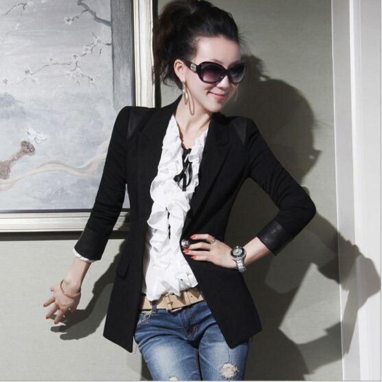 Korean Style Women Suit Jacket Blazer Fashion Ladies Slim One ...