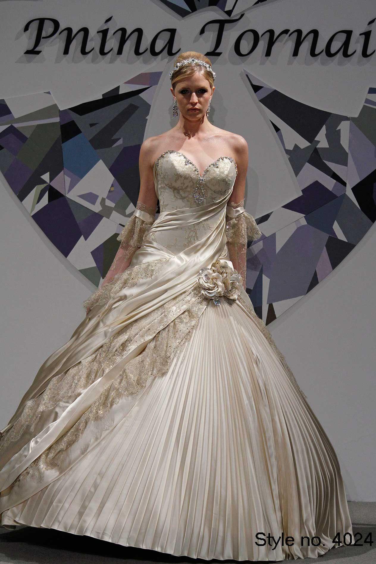 2015 Pnina Tornai Ball Gown Wedding Dresses Sweetheart
