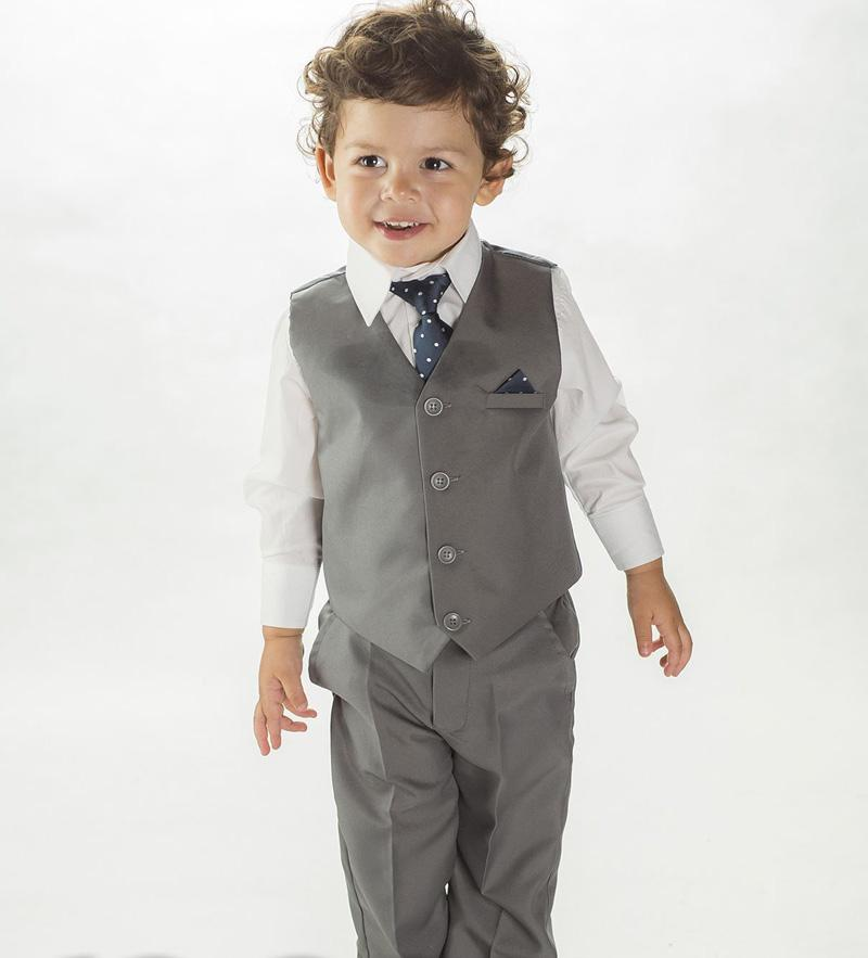 New Desgin Baby Suits Grey Boys Tuxedos Fashion Toddler